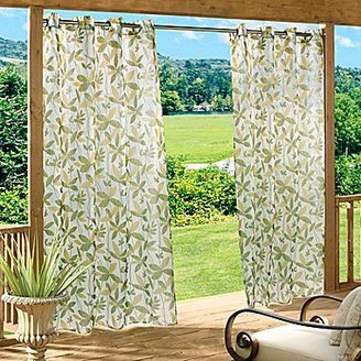 JCPenney Floral Garden Grommet-Top Outdoor Curtain Panel