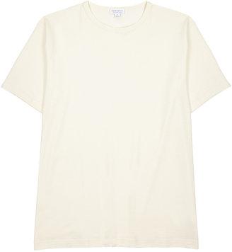 Sunspel Off-white Cotton T-shirt