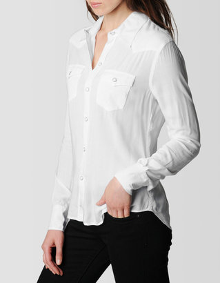 True Religion Womens Lonestar Rayon Shirt