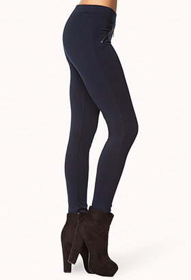 Forever 21 Faux Leather Trim Leggings