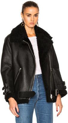 Acne Studios Velocite Leather Jacket in Black | FWRD