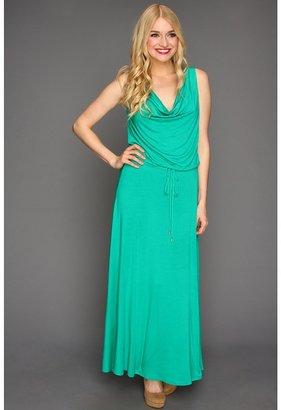 Calvin Klein Solid Blouson Maxi Dress (Sea Green) - Apparel