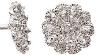 Max & Chloe Collection III Diamond Flower Stud Earrings