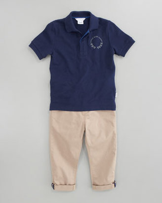Little Marc Jacobs Pique Short Sleeve Polo, Sizes 6A-10A