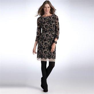 La Redoute LA Lace Dress with Slash Neck and 3/4 Sleeves