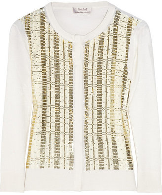 L'Wren Scott Sequined cashmere, wool and silk-blend cardigan