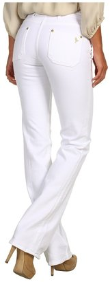 MiH Jeans London Mid-Rise Subtle Bootcut in White (White) - Apparel