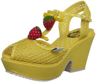 Miss L Fire Women's Sundae Yellow Wedges SUNYEL38 5 UK 38 EU