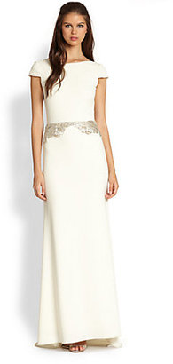 Badgley Mischka Beaded Gown