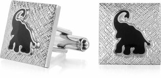 Forzieri Fashion Garden - Black Elephant Square Cufflinks