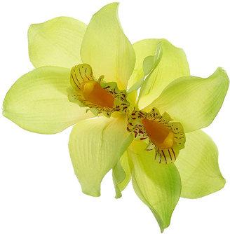 Topshop Large Lime Orchid Clip