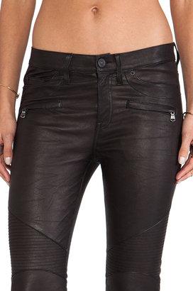 Hudson Jeans Shelby Leather Moto Super Skinny