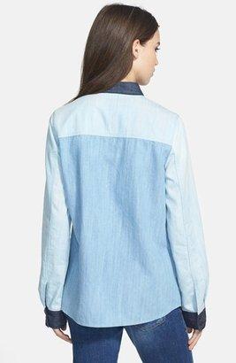 Halogen Colorblock Denim Shirt