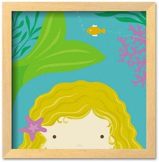 """Art.com Peek-a-Boo Heroes: Mermaid"""" Framed Art Print by Yuko Lau"""
