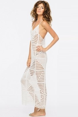 Indah Syra Crochet Maxi in Ivory $198 thestylecure.com