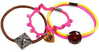 Juicy Couture Basic Stone Elastics w/ Charms (Pink Cerise) - Accessories