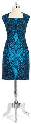 T Tahari Cap-Sleeved Sheath Dress
