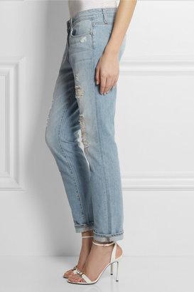 Paige Tyler distressed low-rise boyfriend jeans