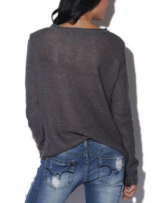 Wet Seal Stripe Pullover Sweater