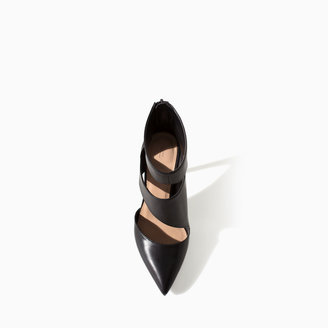 Zara High Heel Ankle Boot Style Court Shoe
