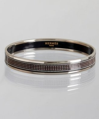 Hermes black enamel pixelated 'Recherche' small bangle