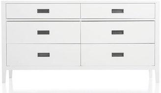 Crate & Barrel Arch White 6-Drawer Dresser