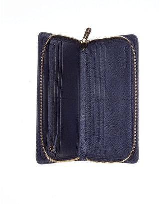 MICHAEL Michael Kors Handbag, Hamilton Saffiano Zip Around Continental Wallet
