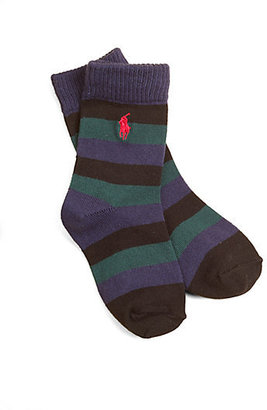 Ralph Lauren Toddler's & Little Boy's Striped Socks
