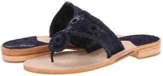 Jack Rogers Glenn Plaid (Navy) - Footwear
