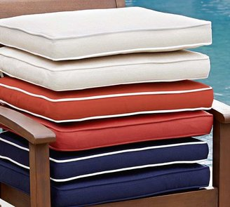 Pottery Barn Sunbrella®; Piped Outdoor Dining Chair Cushion