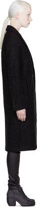 Alexander Wang Charcoal Double Sided Wool Blend Coat