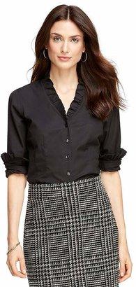 Non-Iron Ruffle Collar Dress Shirt $118.50 thestylecure.com