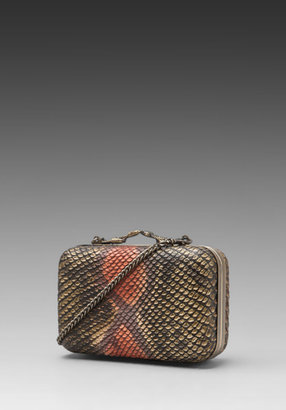 House Of Harlow Marley Rasta Snake Clutch