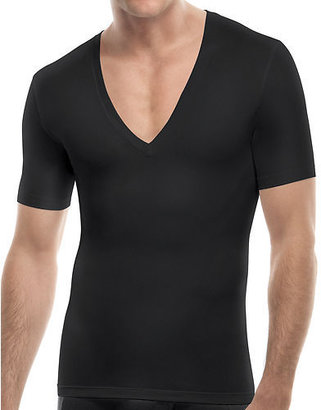 Spanx Brand Men's Cotton Compression Deep V-neck 629 Black