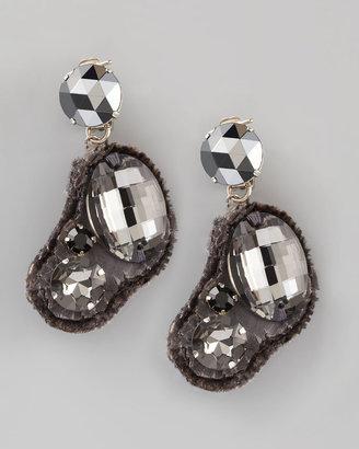 Donna Karan Fabric-Backed Earrings