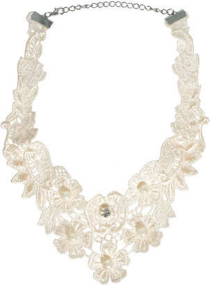 Asos Lace Pearl Choker Necklace