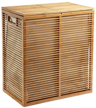 Container Store Zen Bamboo Laundry Hamper