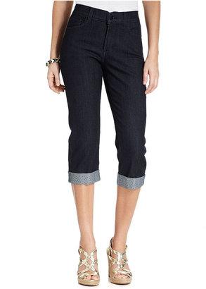 NYDJ Jeans, Alyssa Skinny Studded Capris, Dark Enzyme Wash