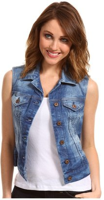 Mavi Jeans Jodie Denim Vest in Blue Rustic (Blue Rustic) Women's Vest