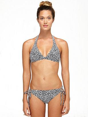 Camo DVF Loves Roxy 70's Halter Bikini Top In True Black