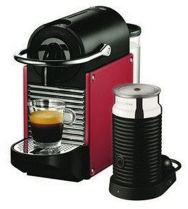 Nespresso Pixie Coffee Machine in Red  EN125R+
