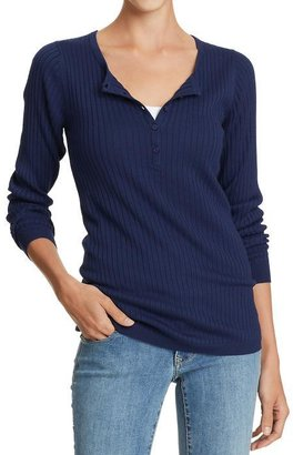 Old Navy Women's Rib-Knit Henley Tops