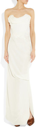 Vivienne Westwood Corseted silk-georgette gown