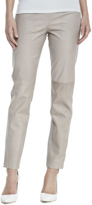 Kaufman Franco Double-Face Paper Leather Skinny Pants