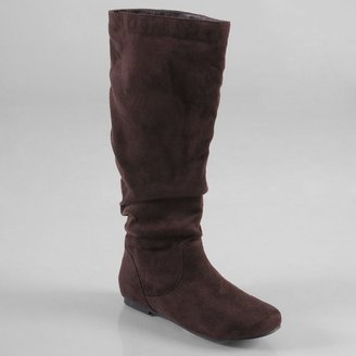 Journee Collection rebecca wide knee-high slouch boots - women