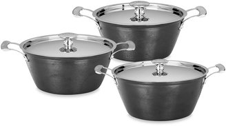"Mario Batali by DanskTM ""Mario Light"" Round Cast Iron Casseroles in Black"