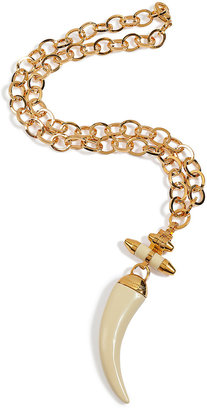 Emilio Pucci Gold-Toned Galalite Pendant Necklace