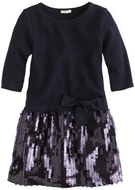 J.Crew Girls' paillette ponte dress