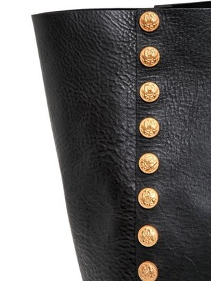 Valentino Gryphon Studded Leather Tote Bag