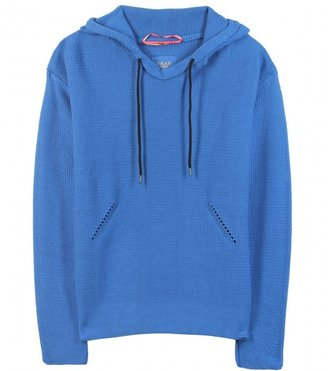 Dear Cashmere PURL KNIT HOODED PULLOVER